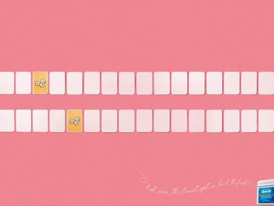 Oral-B Print Ad -  Popcorn