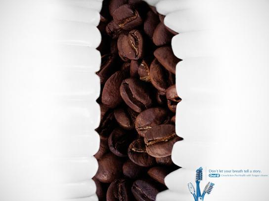 Oral-B Print Ad -  Coffee