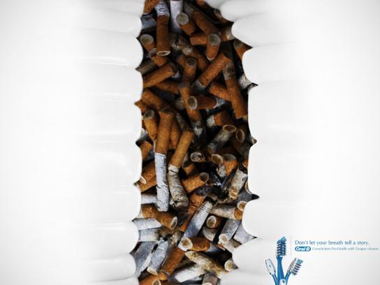 Oral-B Print Ad -  Cigarette