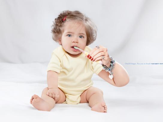 Oral-B Print Ad -  Babies, 2
