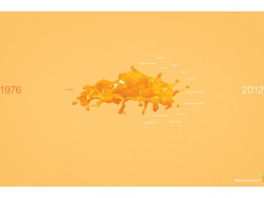 Breeze Print Ad -  Orange Juice