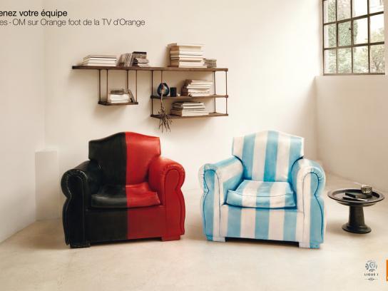 Orange Print Ad -  Couch