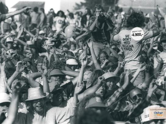 Orange Blue Print Ad -  Woodstock