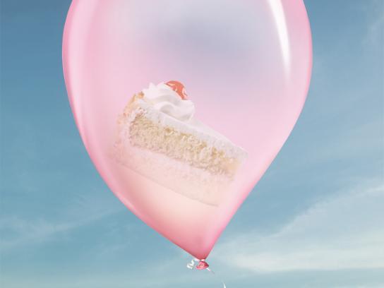 Orbit Print Ad -  Balloons, Cake