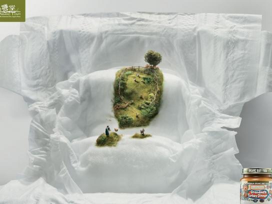 Organic Town Print Ad -  Grandma's Turkey Dinner