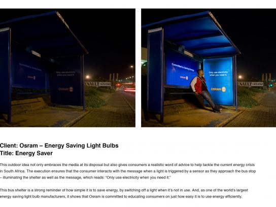 Osram Ambient Ad -  Bus stop