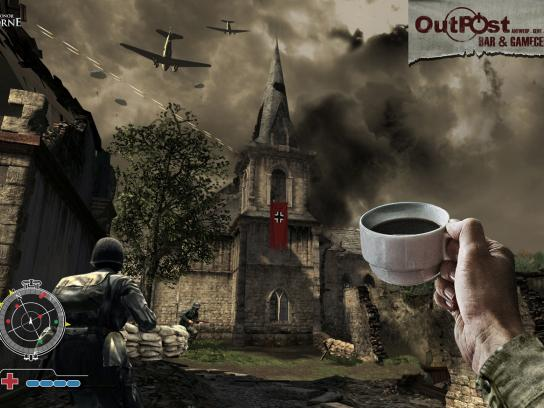 Outpost Print Ad -  Coffee