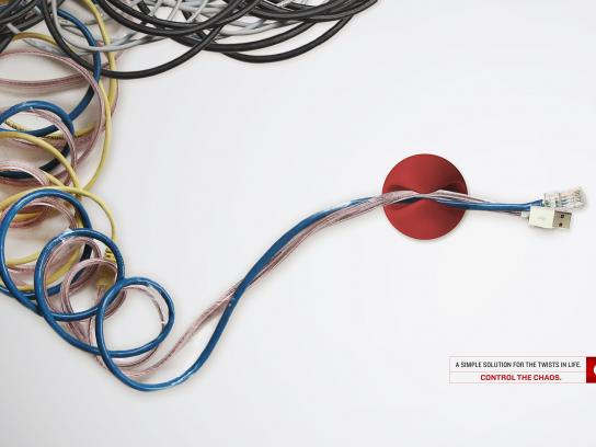 Oxo Print Ad -  Control The Chaos, Twister