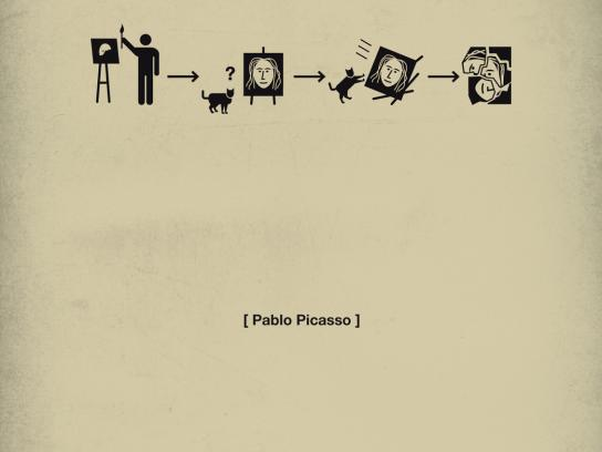 Quercus Books Print Ad -  Life in five seconds, Pablo Picasso