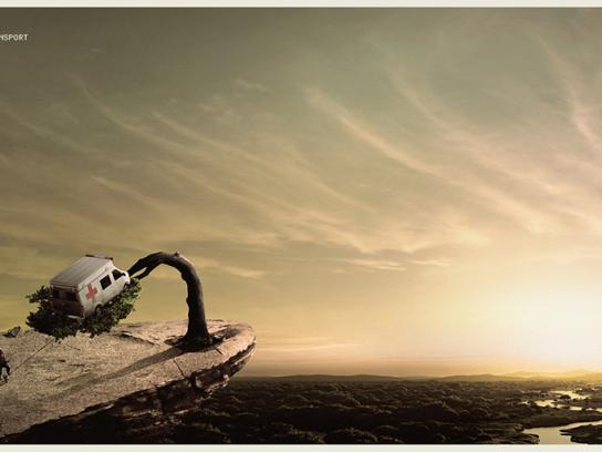 Pacifico Print Ad -  Emergency air transport, Tree