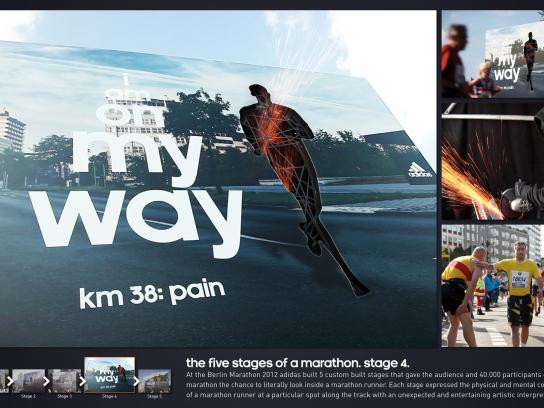 Berlin Marathon Outdoor Ad -  The Five Stages of a Marathon, Pain