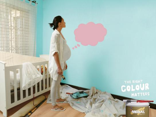 Medal Paints Print Ad -  Wall