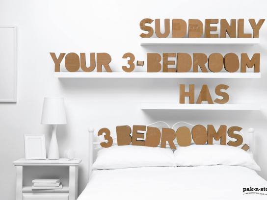 pak-n-stor Print Ad -  Bedrooms