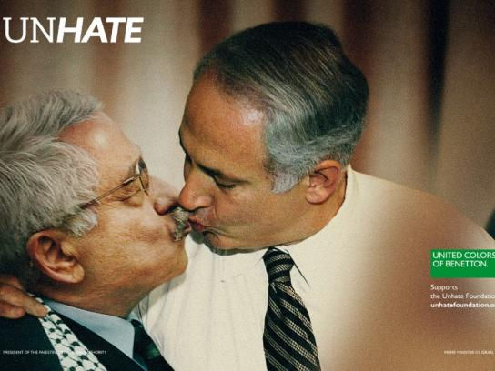 Benetton Print Ad -  Unhate, Palestine-Israel