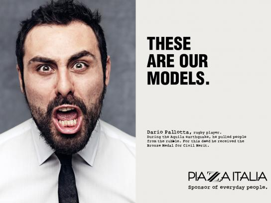 Piazza Italia Print Ad -  Our models, Pallotta