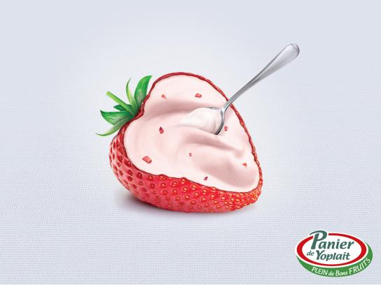 Yoplait Print Ad -  Strawberry