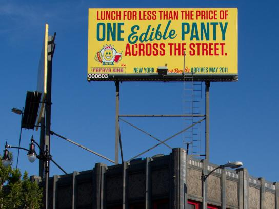 Papaya King Outdoor Ad -  Panties