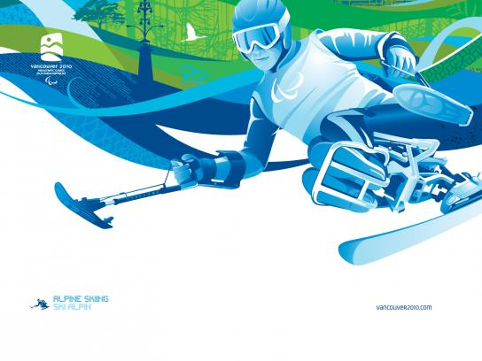 Vancouver 2010 Print Ad -  Para Alpine Skiing
