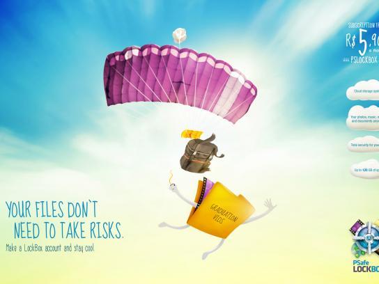 Psafe LockBox Print Ad -  Parachute