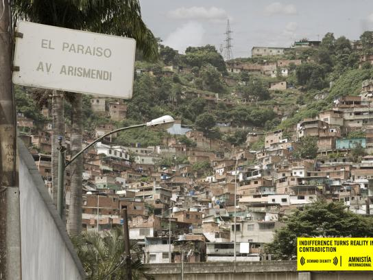 Amnesty International Print Ad -  Urbanization, El Paraiso