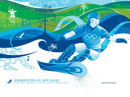 Vancouver 2010 Print Ad -  Snowboard Parallel Giant Slalom