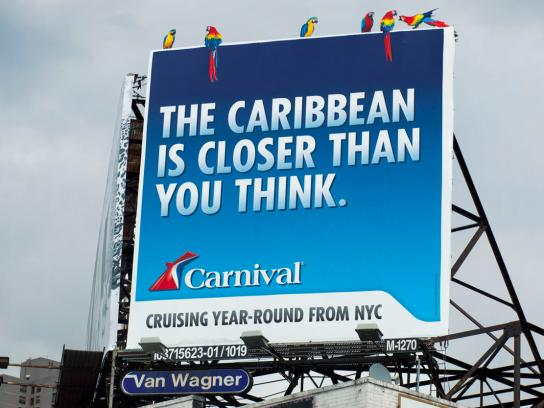Carnival Outdoor Ad -  Parrot Billboard