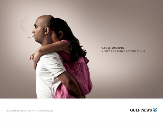 Gulf News Print Ad -  Passive Smoking