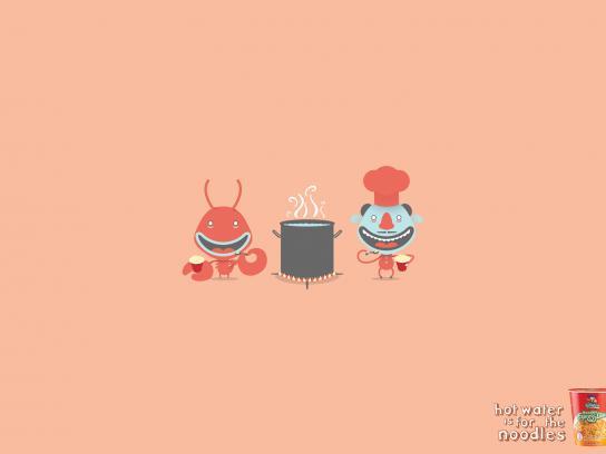 Pastas La Muñeca Print Ad -  Lobster