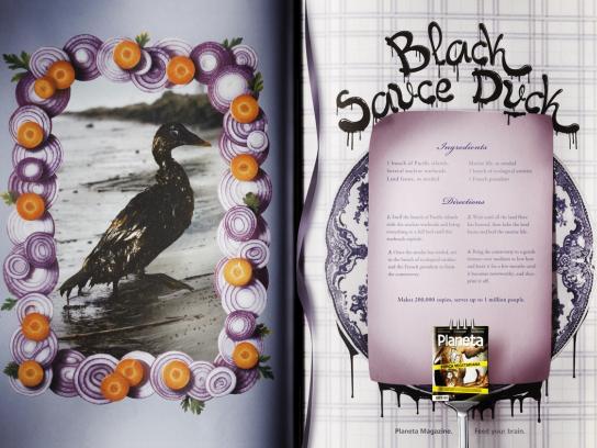 Revista Planeta Print Ad -  Recipes, Black Sauce Duck
