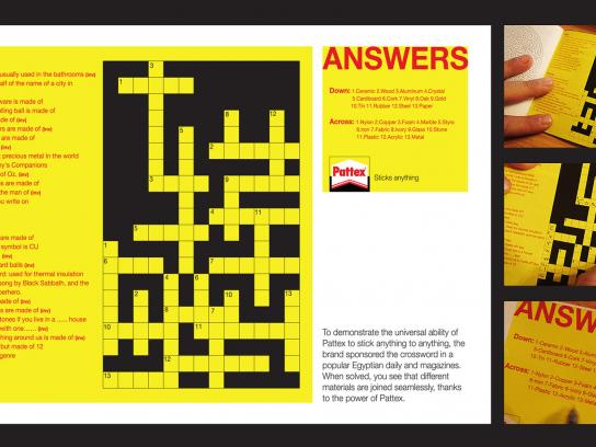 Pattex Print Ad -  Crossword puzzle
