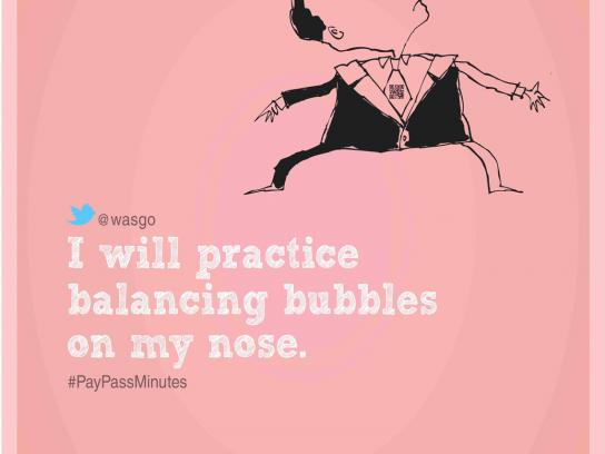 MasterCard Print Ad -  Balancing Bubbles