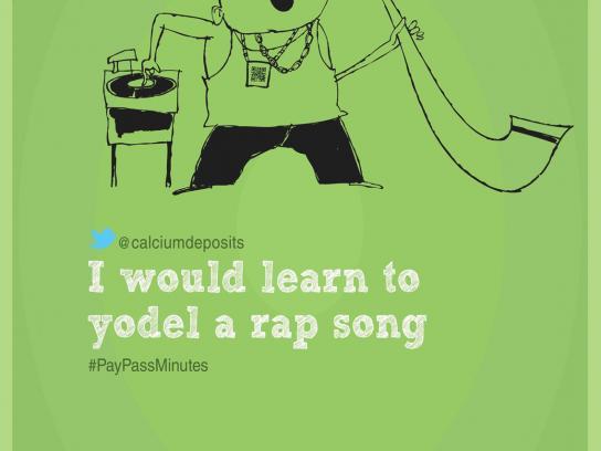 MasterCard Print Ad -  Yodel a Rap