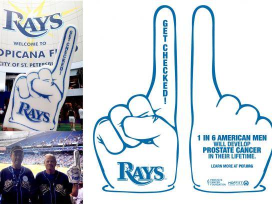 Prostate Cancer Foundation Direct Ad -  Foam Finger Give Away