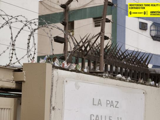 Amnesty International Print Ad -  Street, La Paz