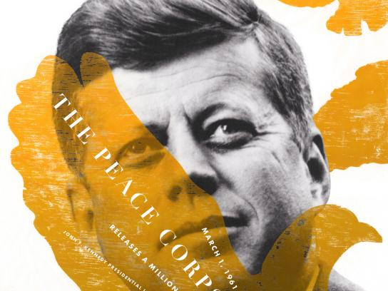 The JFK Presidential Library and Museum Print Ad -  Peace