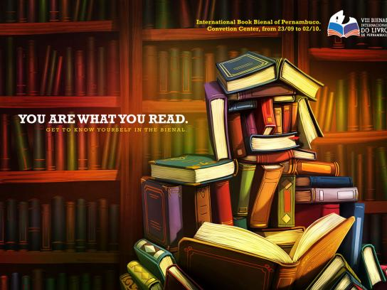 Book Biennial of Pernambuco Print Ad -  You're what you read, 1