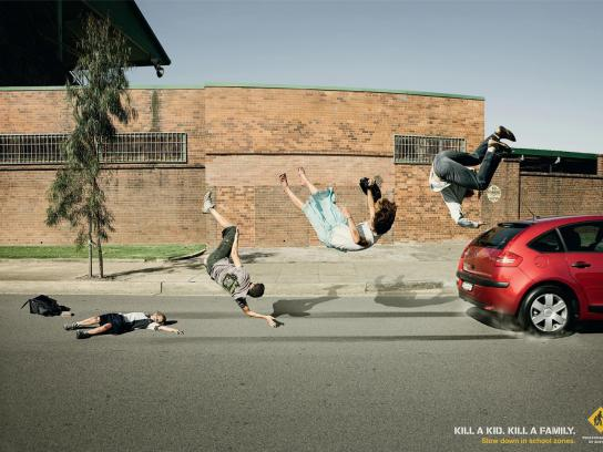 Pedestrian Council of Australia Print Ad -  Family, 1