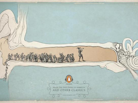 Penguin Print Ad -  The Pied Piper Of Hamelin