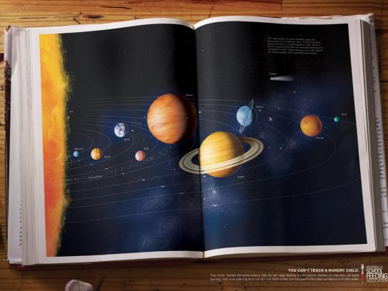 Peninsula School Feeding Association Print Ad -  Solar system