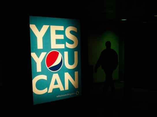Pepsi Outdoor Ad -  Yes you can