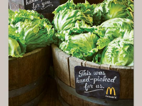McDonald's Print Ad -  Permissibility, Lettuce