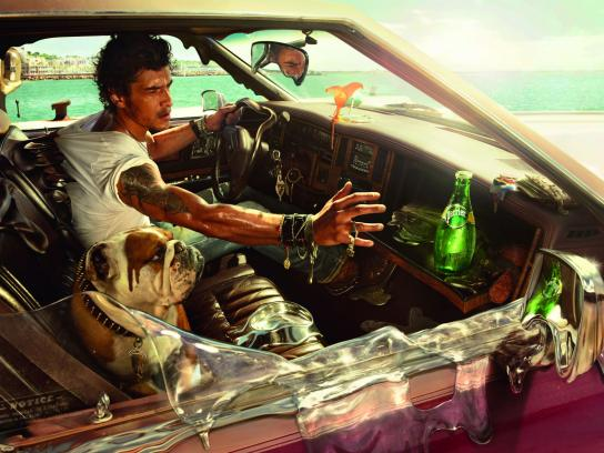 Perrier Print Ad -  Melting Car