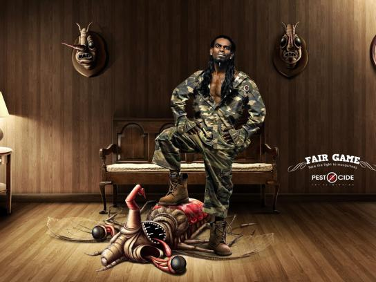 Pest'O'Cide Print Ad -  Fair Game