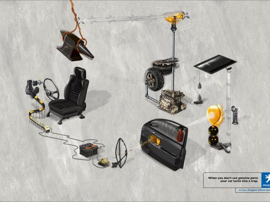 Peugeot Print Ad -  Trap, 1