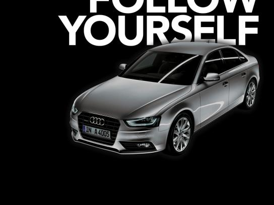 Audi Outdoor Ad -  You'll want to follow yourself