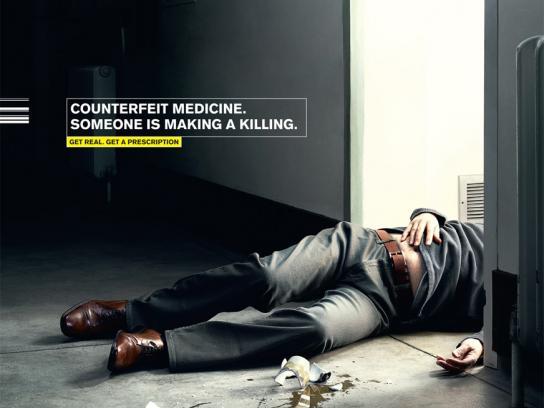 Pfizer Print Ad -  Corpse, 1
