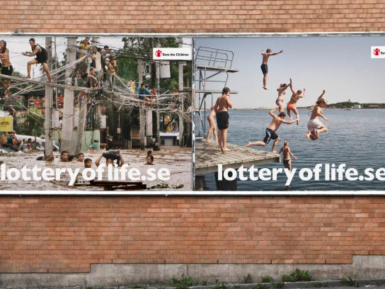 Save the Children Outdoor Ad -  The Lottery of Life, Philippines vs Sweden