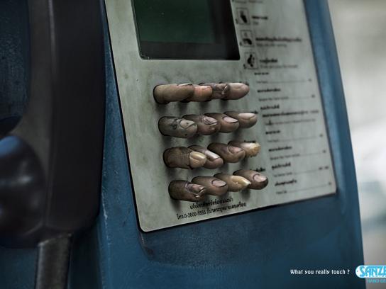 Sanzer Print Ad -  Phone booth