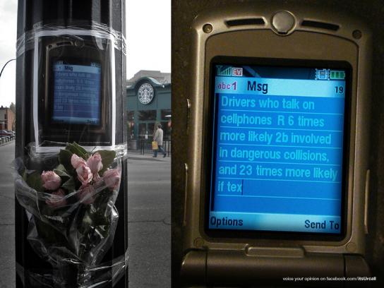 itsUrcall Ambient Ad -  Fake Memorials