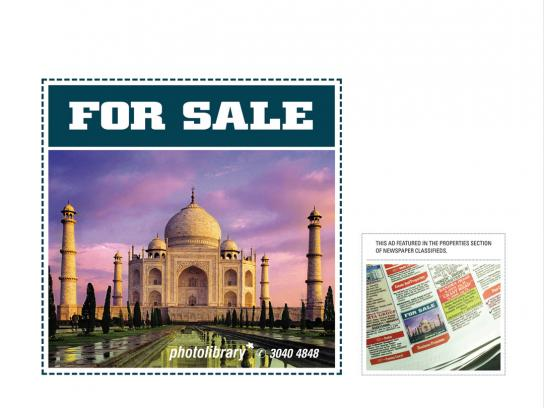 Photolibrary Print Ad -  Taj
